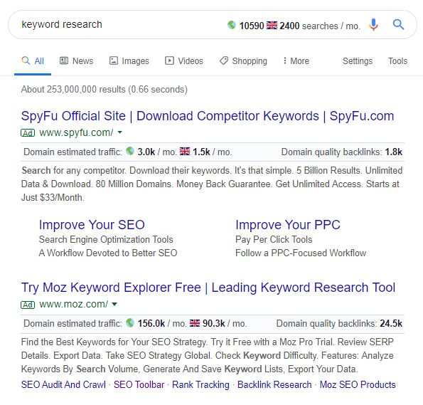 SERPS layout