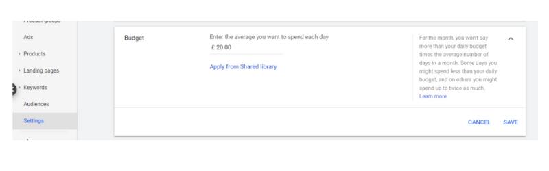 Google Ads - Budgets