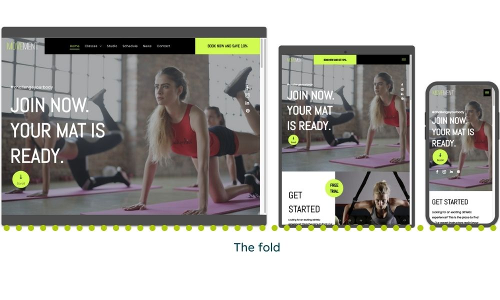 Tips for Landing Pages - Beware the fold