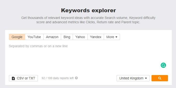 ahrefs-keyword explorer