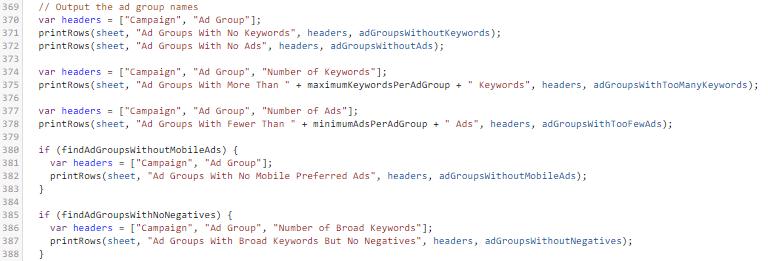 Empty Ad Group Script